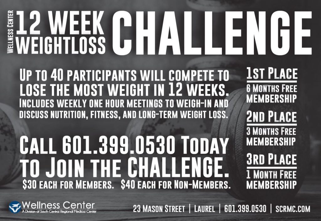 12 Week Weight Loss Challenge Wellness Center